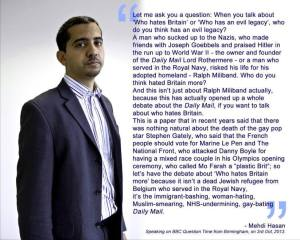Medhi Hassan who hates britain
