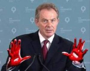 Tony Blair blood hands