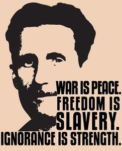 Orwell freedom is slavery