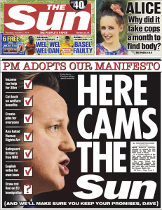 The Sun manifesto Cameron