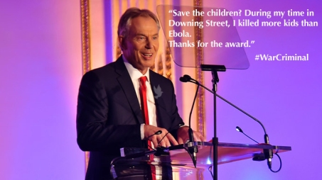Blair wins Save the Children award
