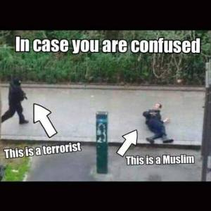 One is a follower of Islam, the other is a crazed gunman